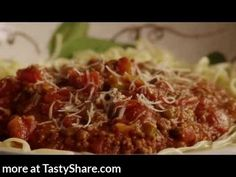 Get the top-rated recipes for Spaghetti Sauce with Ground Beef at http://allrecipes.com/Recipe/Spaghetti-Sauce-with-Ground-Beef/detail.aspx Watch how to make a rich red sauce with ground beef, onions, garlic, bell peppers, and herbs. Serve this meaty tomato sauce over spaghetti topped with freshly grated Parmesan cheese. It also freezes well for easy weeknight dinners. Subscribe to allrecipes @ http://www.youtube.com/subscription_center?add_user=allrecipes Facebook http://www.facebook.com/Allrecipes Twitter @Allrecipesvideo Pinterest http://pinterest.com/allrecipes/