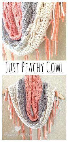 Just Peachy Cowl Crochet Pattern – Breann's Stitchery