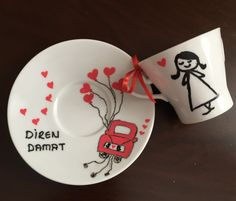 Damat Fincanı,Söz ve kız isteme için özel Tuzlu Kahve Fincanı