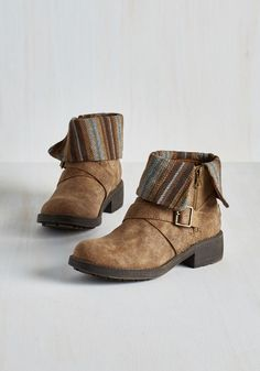 Shooting Star Search Bootie in Loam by Rocket Dog - Low, Faux Leather, Tan, Multi, Stripes, Buckles, Casual, Boho, Fall, Winter, Variation, Better, Ankle