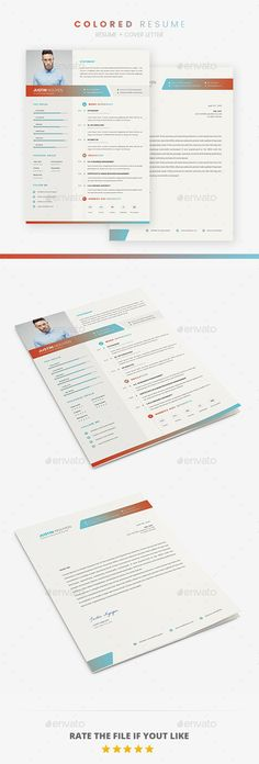 Landscape Resume Stationery design, Resume cv and Simple resume - landscape resume