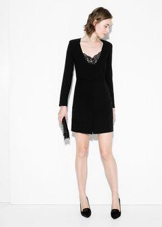 Lace appliqué dress - Women | MANGO