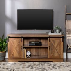 Rustic TV Stand Console Up To Barn Door Wood Farmhouse Entertainment Center in Home & Garden, Furniture, TV Stands & Entertainment Units Living Room Tv, Living Room Tv Stand, Farmhouse Furniture, Living Room Decor, Home Decor, Farm House Living Room, Rustic Living Room, Country Living Room, Home Living Room