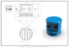 3D CAD EXERCISES 1142 - STUDYCADCAM Cad Cam, Cad Drawing, Technical Drawing, Autocad, Geometry, Exercises, 3d, Drawings, Design