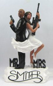 Mr. and Mrs. Smith Cake Toppers.  Custom wedding cake toppers for military couples.