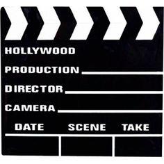 Décoration de table ou marque table clap de cinéma grand format