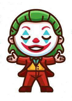 Cute Joker Cartoon Laptop or Car Sticker Joker Drawing Easy, Joker Drawings, Trippy Drawings, Cartoon Drawings, Cartoon Art, Easy Drawings, Joker Cartoon, Avengers Cartoon, Cartoon Stickers
