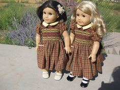 Lucy's clothes from Narnia movie  These clothes were made for a Emily/Lucy doll. I very much loved doing the smocking on the lamppost dress.