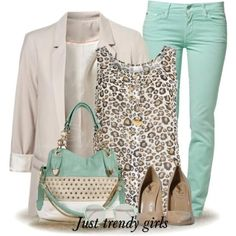 mint blazers, mint blouses, mint tops, mint jeans Casual mint outfits styling ideas http://www.justtrendygirls.com/casual-mint-outfits-styling-ideas/