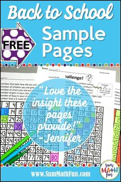 These back to school no prep printables will get your school year off to an incredible start. Just print and be ready to engage and challenge your kids! Fun Math Activities, Math Games, Teaching Resources, Teaching Ideas, Fifth Grade, Second Grade, First Day Of School, Back To School, Letter To Parents