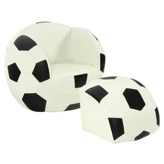 Soccer Ball Lounge & Footrest - Kids chair, childrens seat
