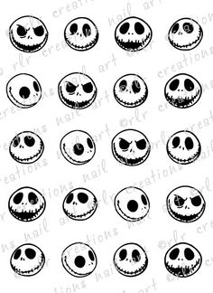 20 Assorted JACK SKELLINGTON Nightmare Before Christmas Water Slide Nail Art Decals Perfect for Halloween Inspired Fingernails Nail Decals