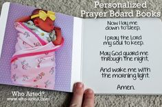 Baptism Gift Idea. Personalized prayer board books!