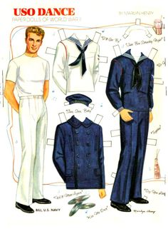 USO Dance, sailor paper doll by Marilyn Henry