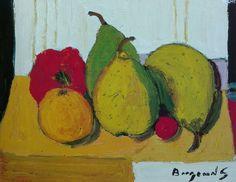 Georges Borgeaud - Les trois poires, 1987 Nature, Painting, Art, Pears, Art Background, Naturaleza, Painting Art, Kunst, Paintings