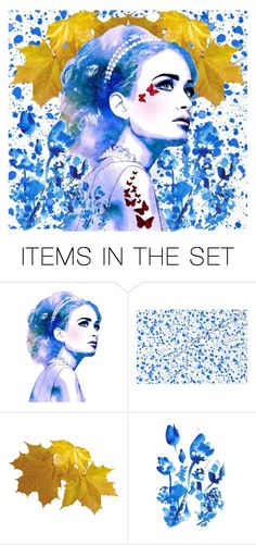 """""""The Butterfly Woman"""" by timelesswaltz ❤ liked on Polyvore featuring art"""