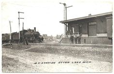 RAILROAD  TRAIN DEPOT  OTTER LAKE,  MICHIGAN