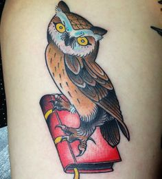 Tatuagem de Peter Klegues. #tattoo #tatuagem #neotradicional #owl #coruja