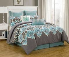 8 Piece King Monte Carlo Bedding Comforter Set * Learn more by visiting the image link-affiliate link. #Bedding>70% Off