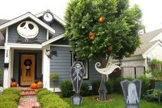 my nightmare before christmas yard decorations jack head count down clock scary teddy by the door
