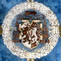 Stemma di Bernardo Clesio.  Andito davanti alla Cappella del Magno Palazzo al Castello del Buonconsiglio a Trento.  1531-1532