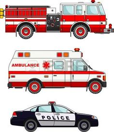 Detailed illustration of fire truck, police and ambulance cars in a flat style Drawing Tutorials For Kids, Drawing For Kids, Fire Truck Drawing, Birthday Canvas, Paper Fire, Art Transportation, Photography Jobs, Military Diorama, Save The Children