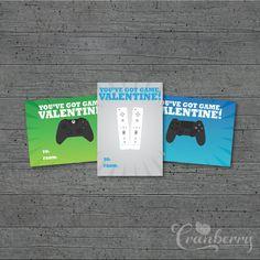 Gamer Valentine's Day Cards (Set of 4) - Digital Download