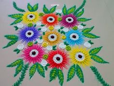 Beautiful buke type rangoli design - YouTube