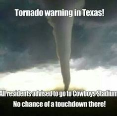 no chance of a touchdown in cowboy's stadium!