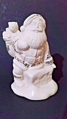 """Lenox """"Santa's Visit"""" Christmas Hand Crafted Santa (China Jewels Collection)"""