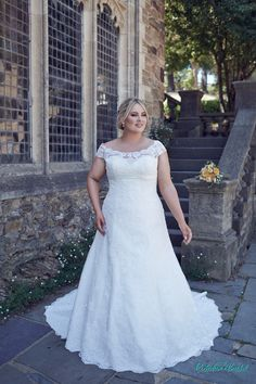 Bridget plus size wedding dress