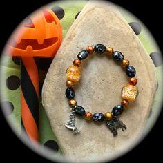 BLACK and ORANGE GLOW in the Dark Halloween by WhimsicalMystical