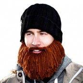 Muts met aangebreide baard