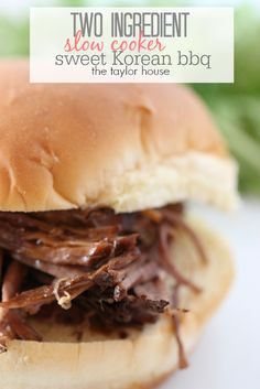 Slow Cooker Sweet Korean BBQ Sandwich - The Taylor House #ad #CampbellsSauces