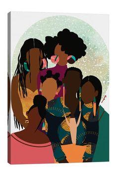 Black Girl Art, Black Women Art, Art Girl, Black Art Painting, Black Artwork, Canvas Artwork, Canvas Art Prints, Estilo Hip Hop, Afro Art