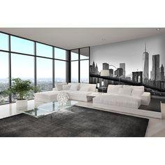 Schöne Schwarz/Weiss Fototapete New York Skyline