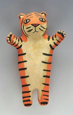 Somewhat Ferocious Tiger Wally - Ceramic Wall Art Sculpture by saraswink on Etsy Ceramic Wall Art, Ceramic Clay, Tiger Art, Small Sculptures, Art Carved, Toy Craft, Sculpture Clay, Clay Crafts, Art Dolls
