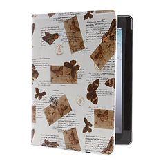 Pattern borboleta Capa de Couro PU com suporte para o novo iPad e iPad 2 – BRL R$ 45,64