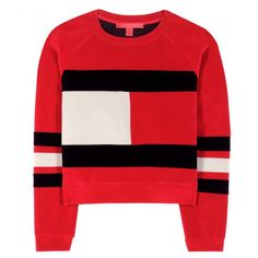 Pin for Later: These 9 Throwback Tommy Hilfiger Pieces Will Give You Major '90s Nostalgia  Tommy x MyTheresa Scuba Velvet Cropped Sweater ($395)