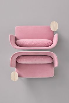 The Ara sofa offers privacy and comfort in a very fresh aesthetic. Designed by Perezochando. Check out this piece at our website. Contract Furniture, Furniture Plans, Furniture Design, Pink Sofa Design, Pastel Designs, Home Design Floor Plans, House Front Design, Hospitality Design, Top View