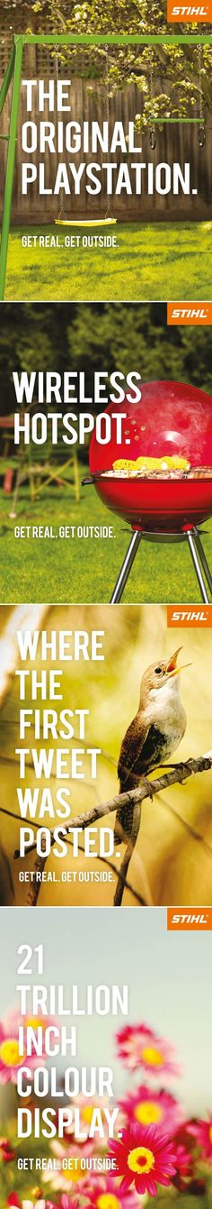 funny stihl ads: get outside