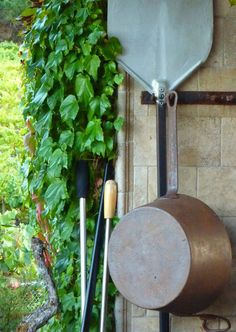 Copper pan and palo at the Healdsburg Cooking School.