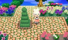 Peach cobblestone. For this path for other... - Animal crossing things and stuff.