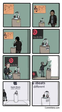 Twitter / Brilliant_Ads: Beats version of Apple tomorrow ...
