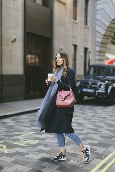 Duster coat and trainers