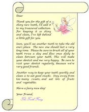 Little letter from the Tooth Fairy saying sorry she forgot to pick
