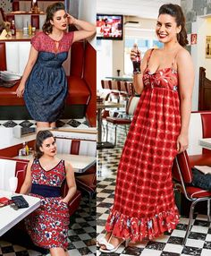 Soda Fountain: 6 New Plus Size Patterns pin up style. Sewing Clothes Women, Diy Clothing, Clothing Patterns, Dress Patterns, Clothes For Women, Fitness Clothing, Travel Clothing, Coat Patterns, Vintage Clothing