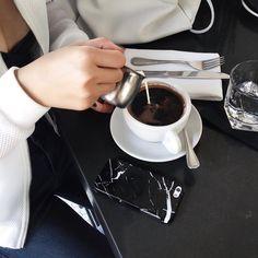 Imagem de coffee, food, and black