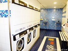 Laundry room aboard the Disney Dream. Doing laundry on your vacation is not always a bad thing.   PixieTripsTravel.com