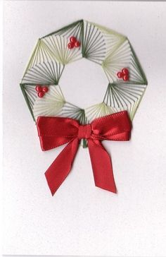 paper embroidery Christmas Wreath